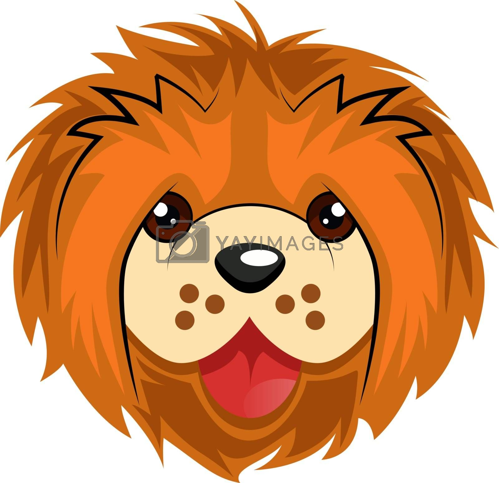 Royalty free image of Chow Chow illustration vector on white background by Morphart
