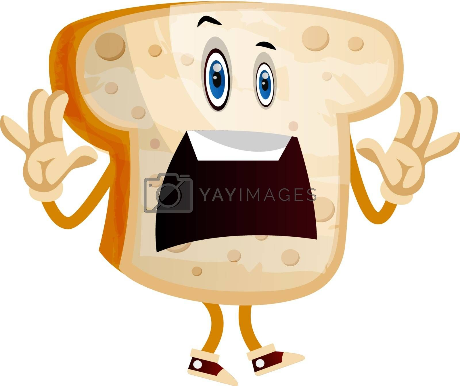 Royalty free image of Scared Bread illustration vector on white background by Morphart