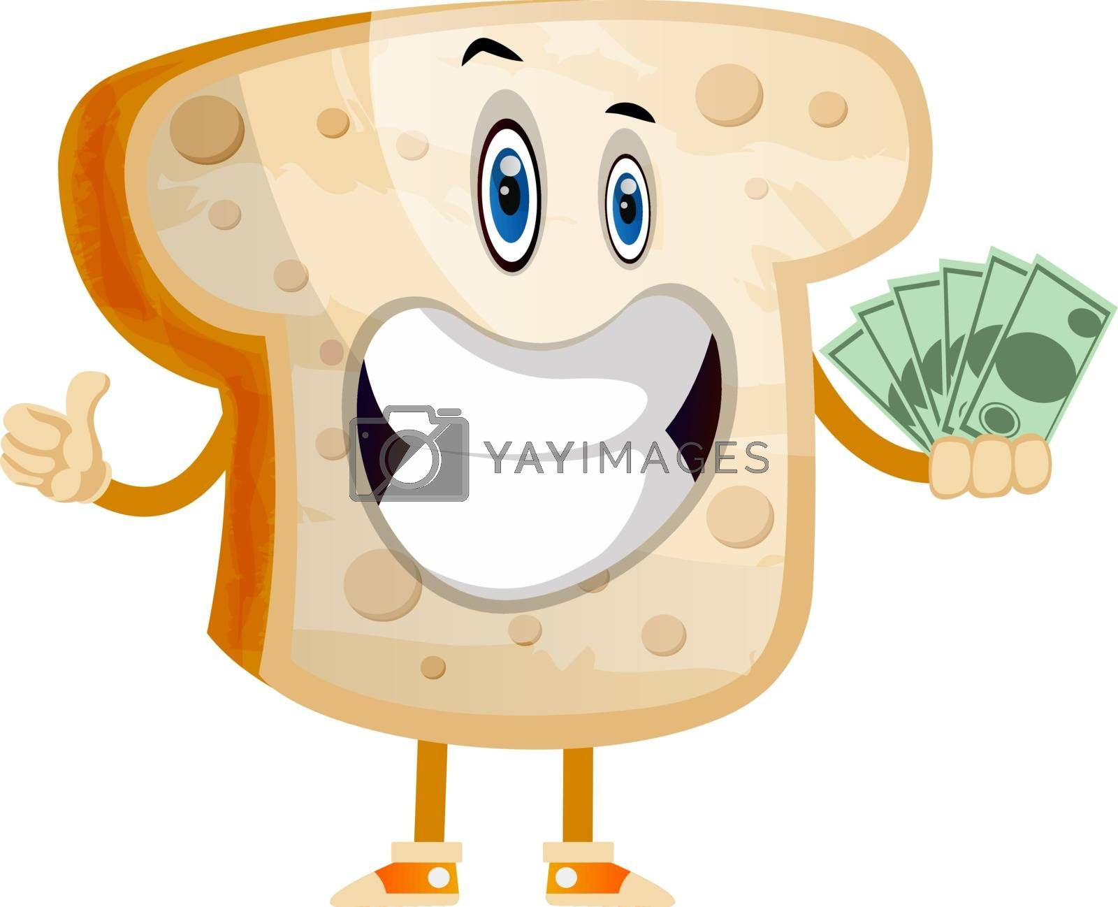 Royalty free image of Rich Toast illustration vector on white background by Morphart