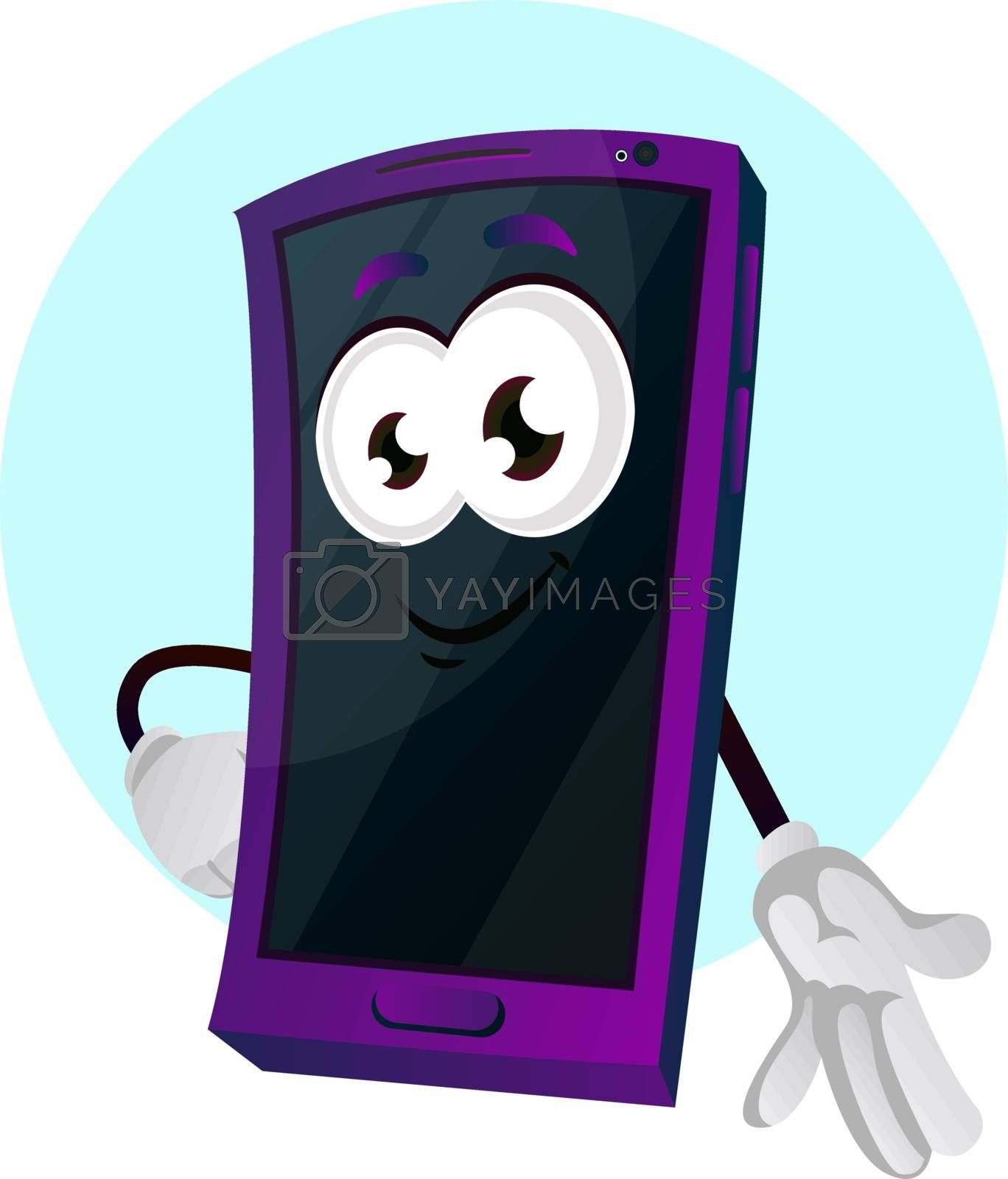 Royalty free image of Mobile emoji gesture illustration vector on white background by Morphart