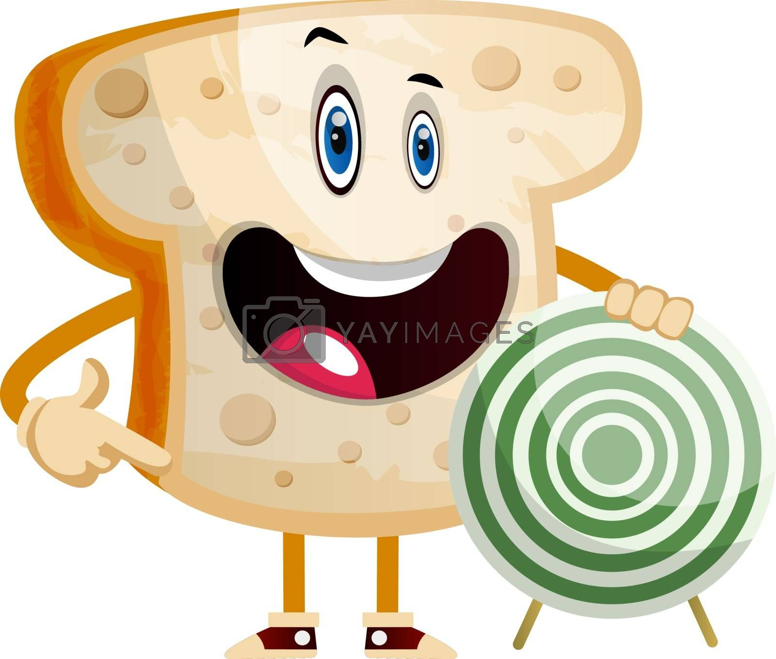 Royalty free image of Target Bread illustration vector on white background by Morphart