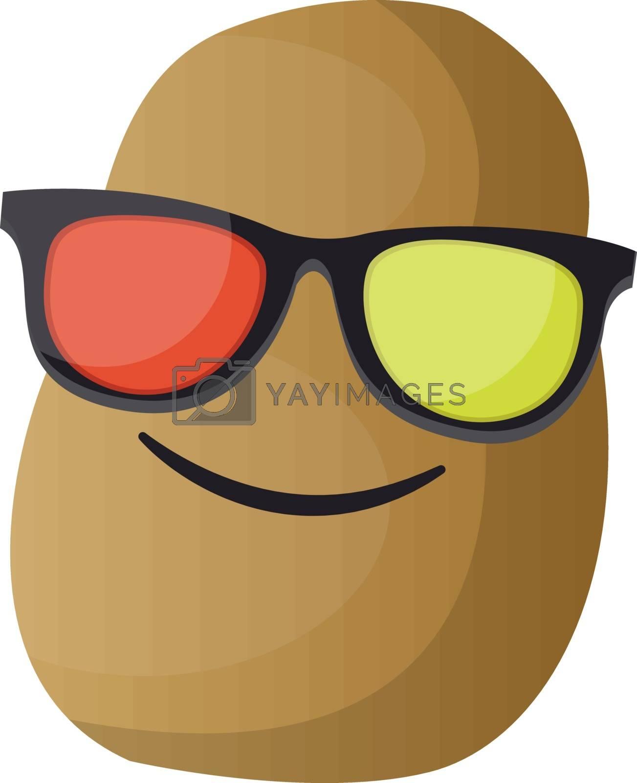 Royalty free image of Cartoon potato wearing sunglasses illustration vector on white b by Morphart