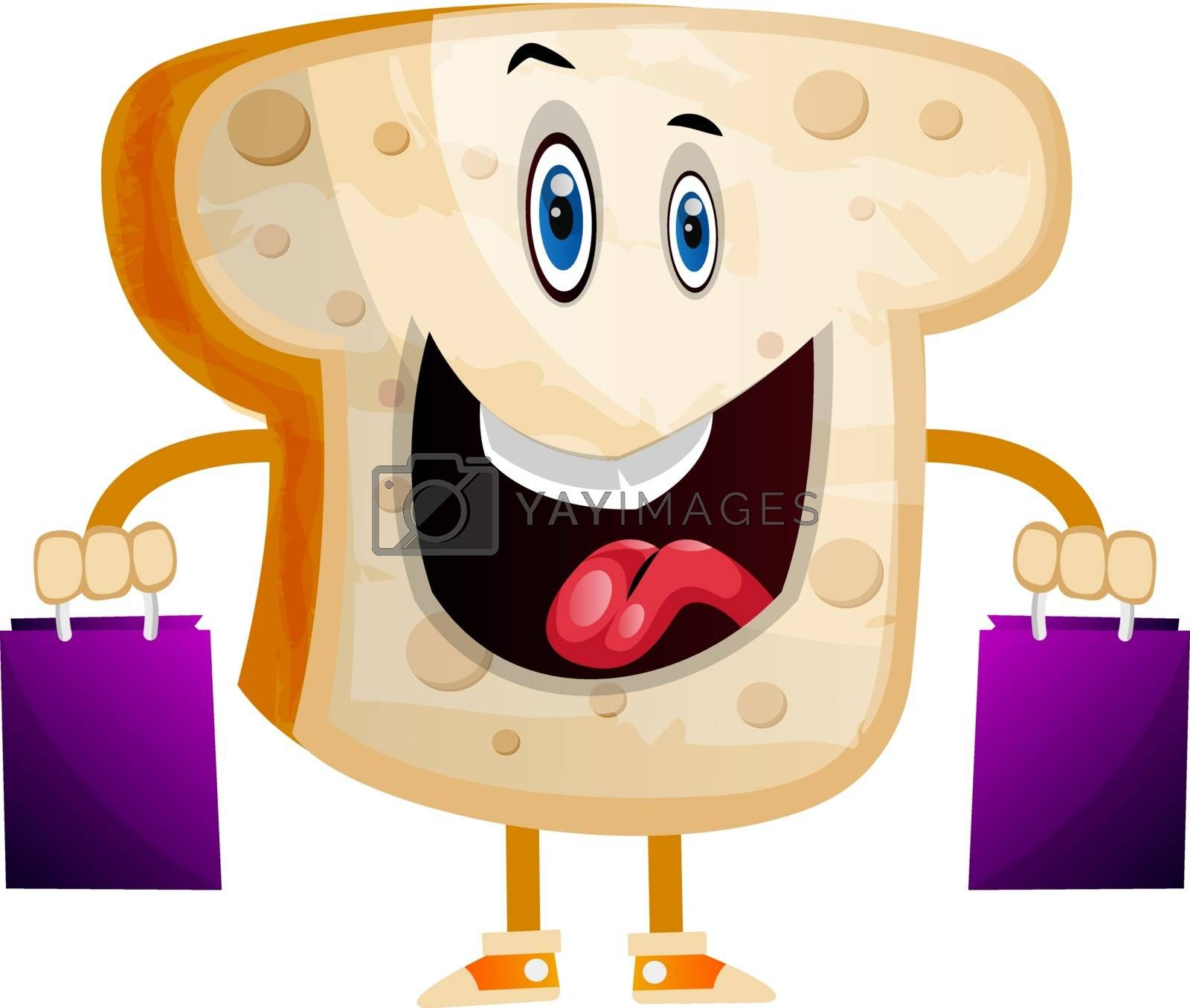 Royalty free image of Shopping Bread illustration vector on white background by Morphart