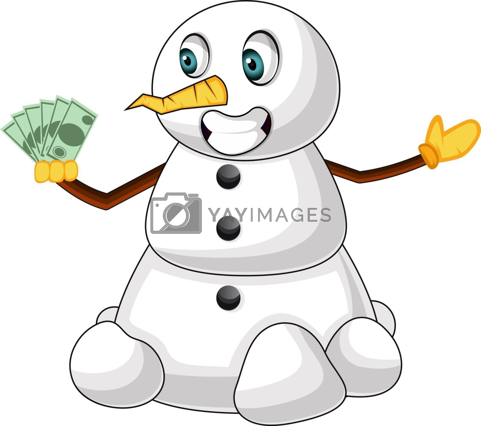 Royalty free image of Rich snowman illustration vector on white background by Morphart