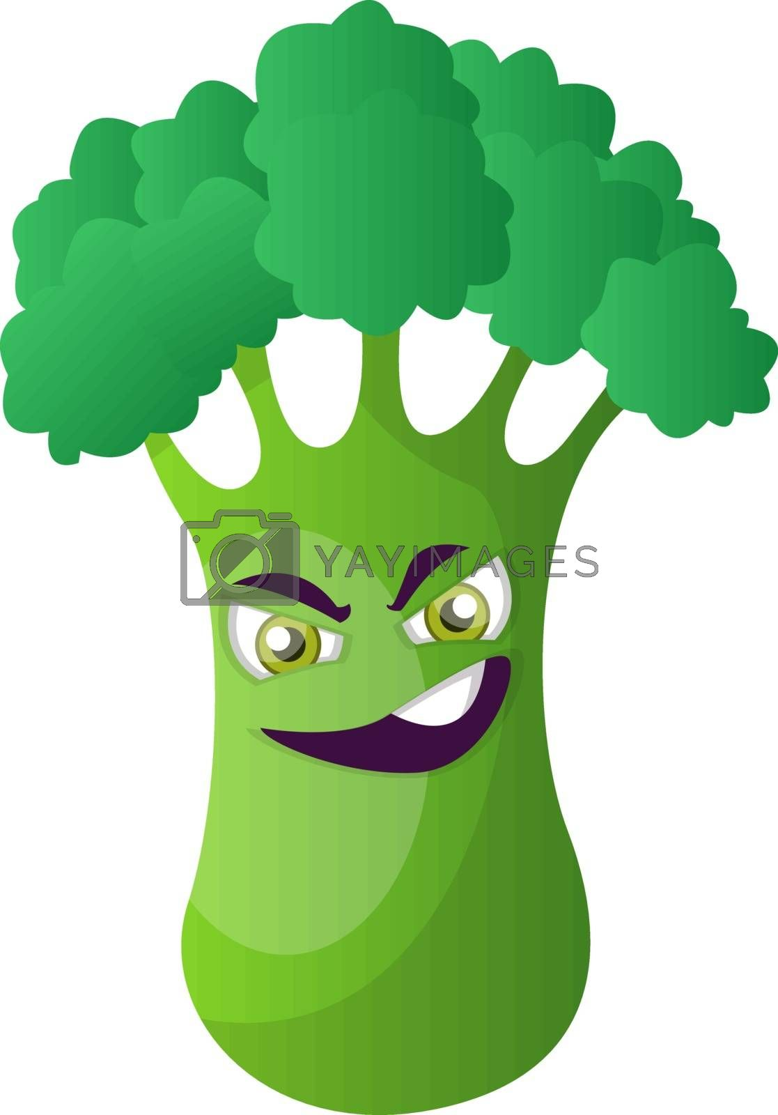 Royalty free image of Evil broccoli illustration vector on white background by Morphart