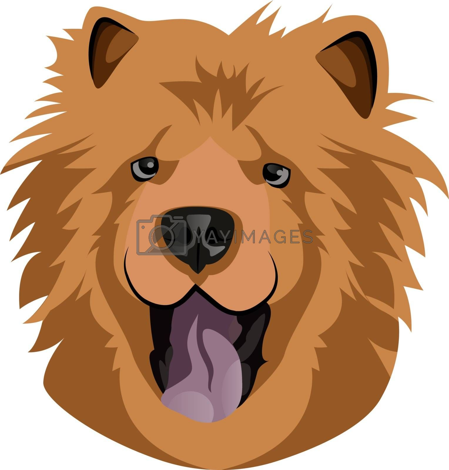 Royalty free image of Happy Chow Chow illustration vector on white background by Morphart