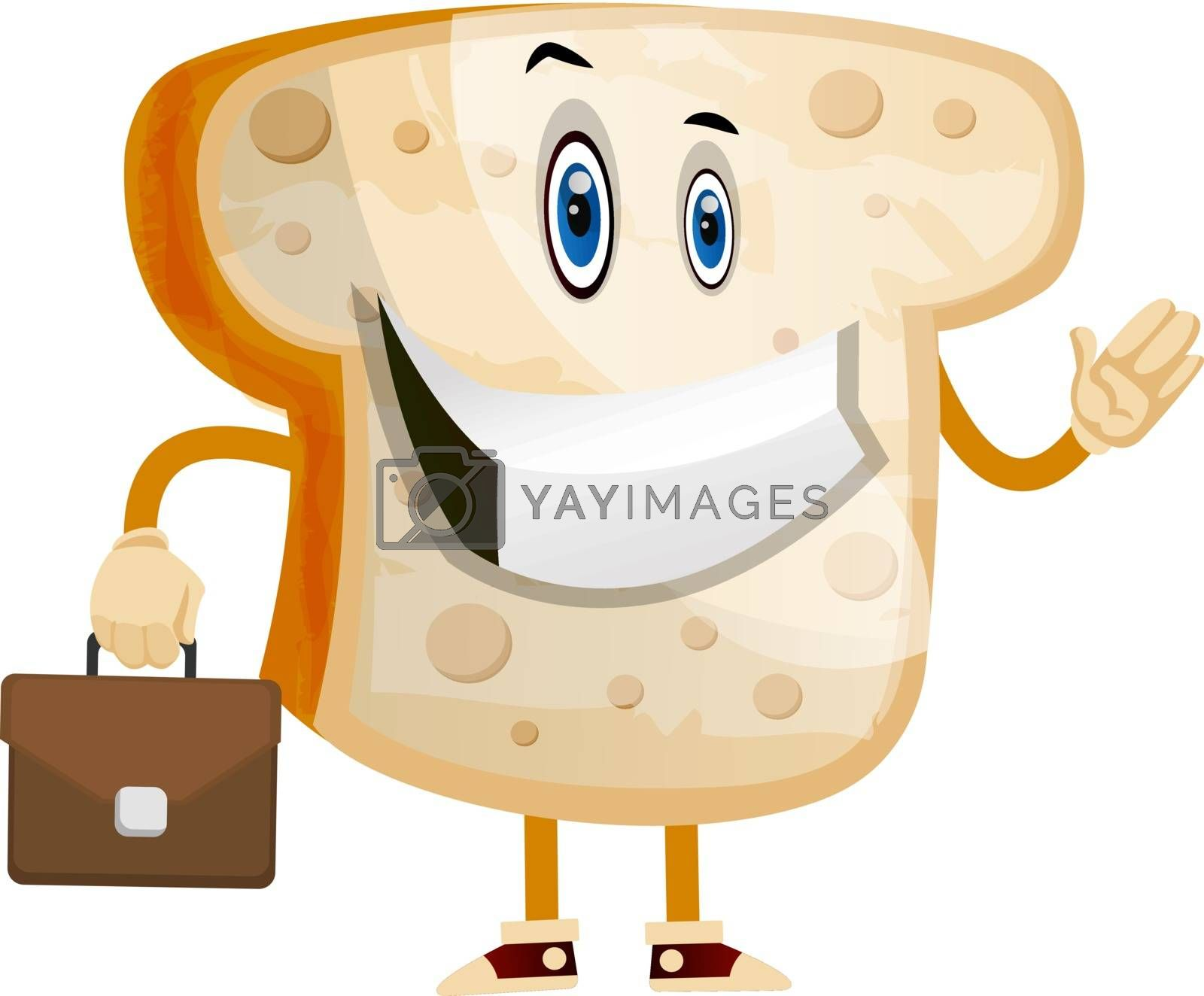 Royalty free image of Business Toast illustration vector on white background by Morphart