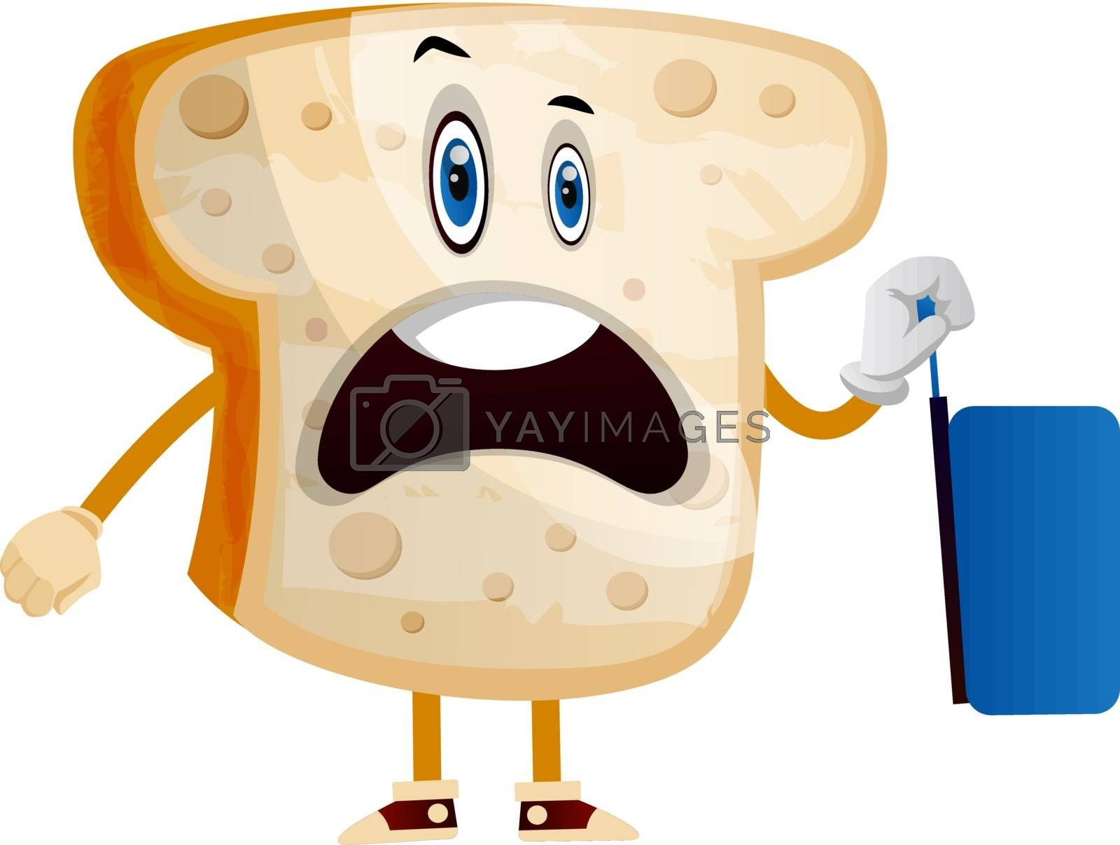 Royalty free image of Traveling Bread illustration vector on white background by Morphart