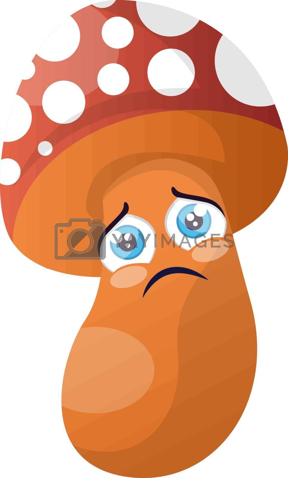 Royalty free image of Sad cartoon mushroom illustration vector on white background by Morphart