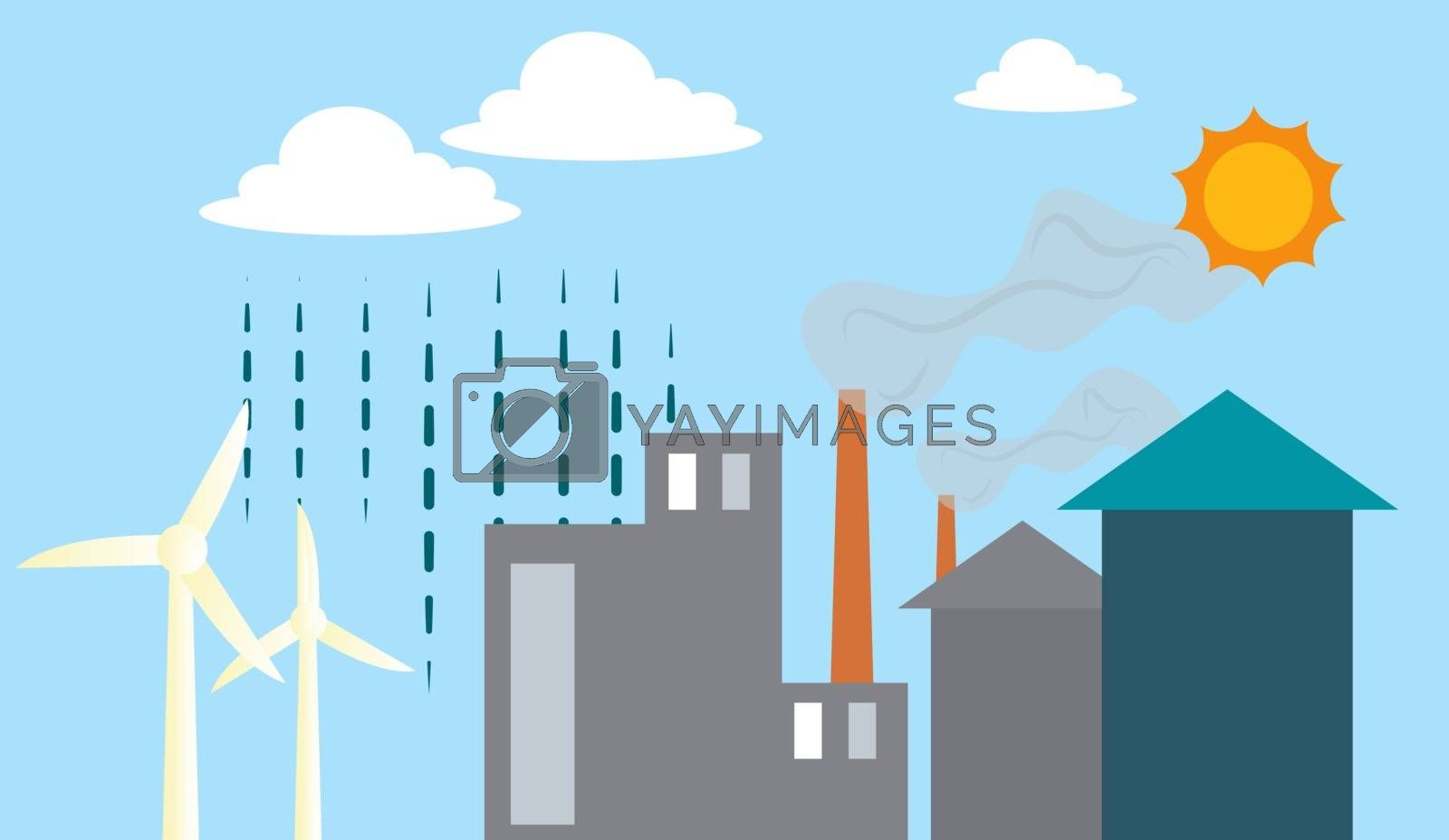 Royalty free image of Different renewable energy sources illustration vector on white  by Morphart