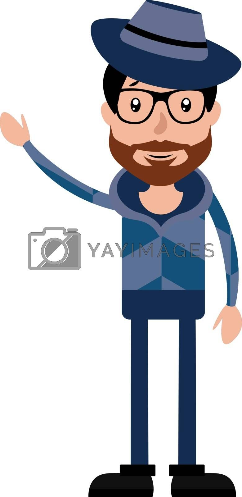 Royalty free image of Funny and cool cartoon guy in casual clothes illustration vector by Morphart