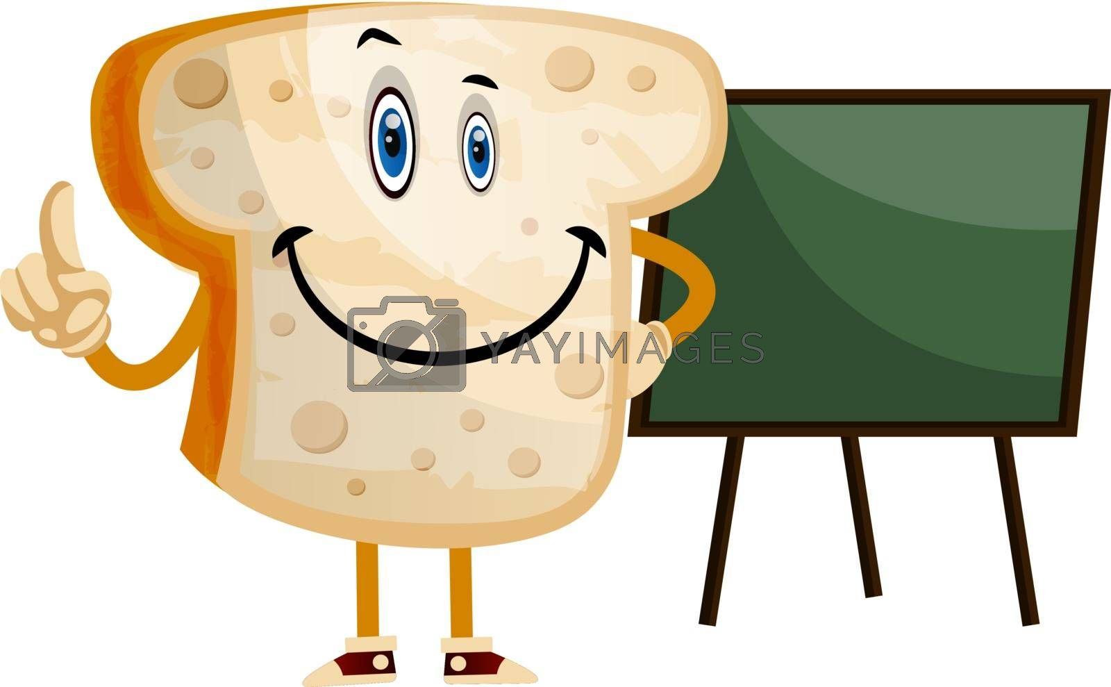 Royalty free image of Blackboard Bread illustration vector on white background by Morphart