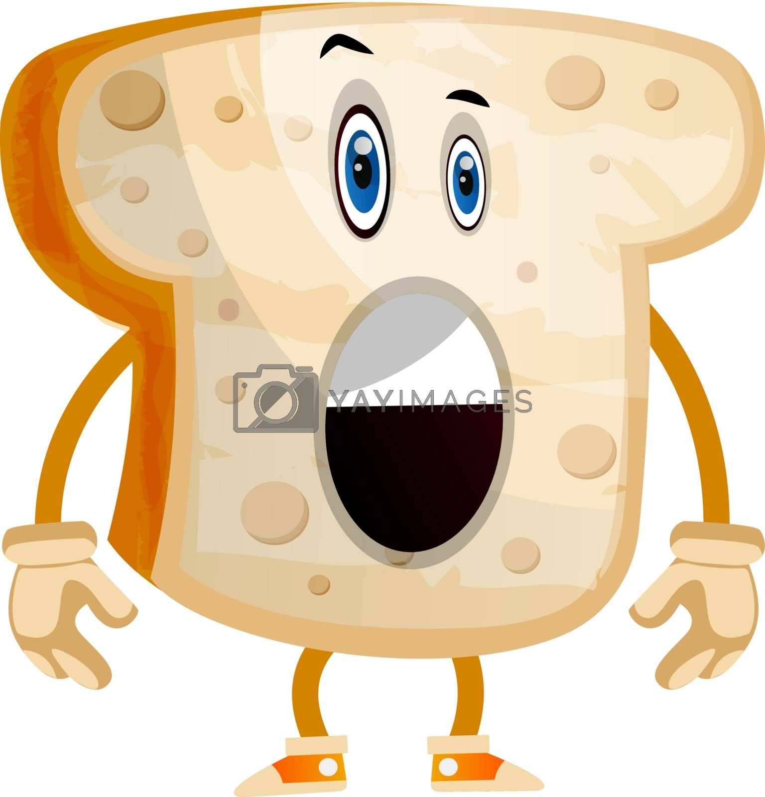 Royalty free image of Toast illustration vector on white background by Morphart