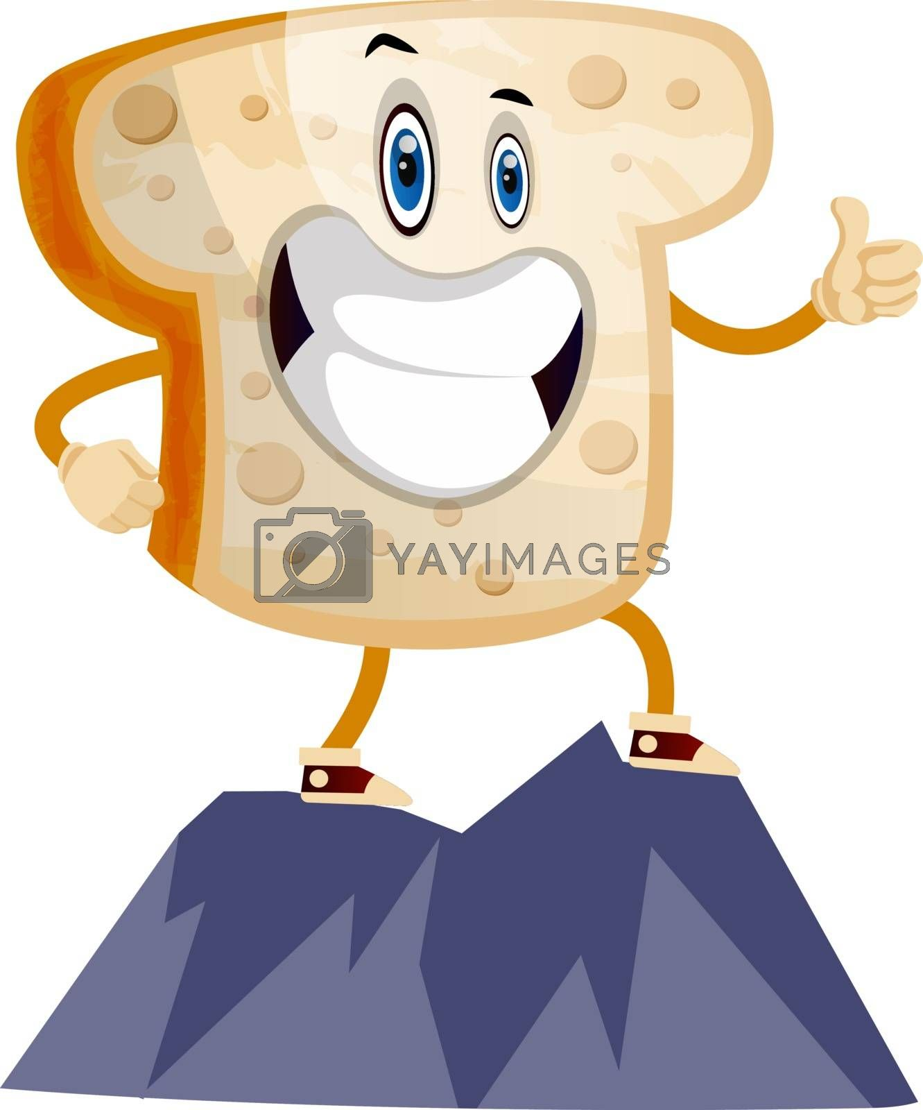 Royalty free image of Toast on Mountain illustration vector on white background by Morphart
