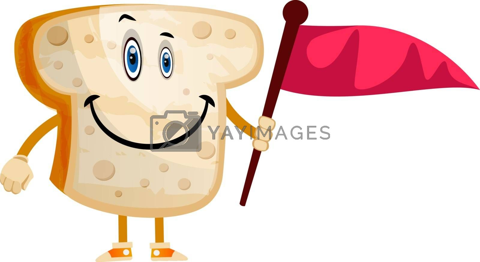 Royalty free image of Bread with flag illustration vector on white background by Morphart