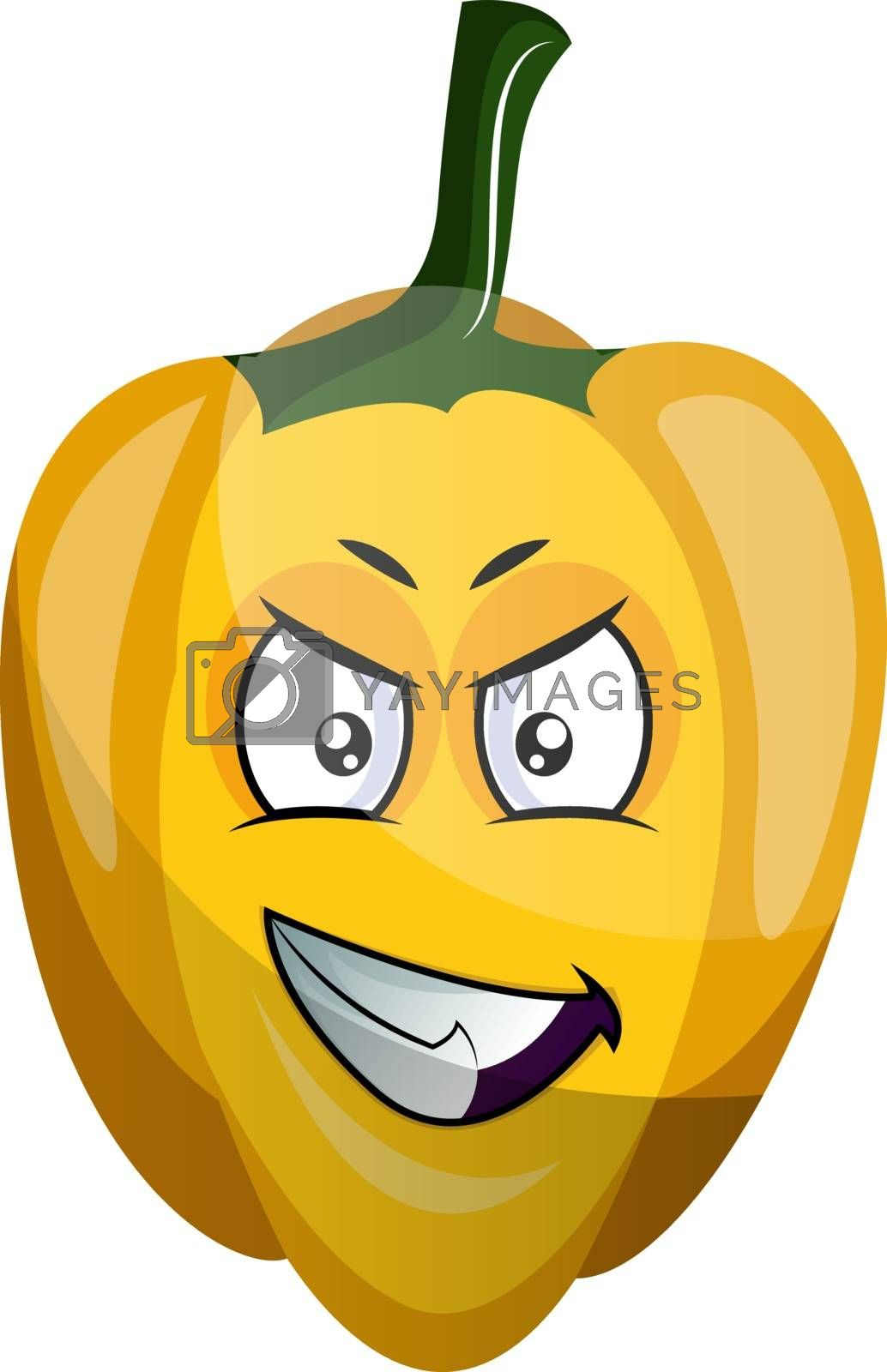 Royalty free image of Evil capsicum illustration vector on white background by Morphart