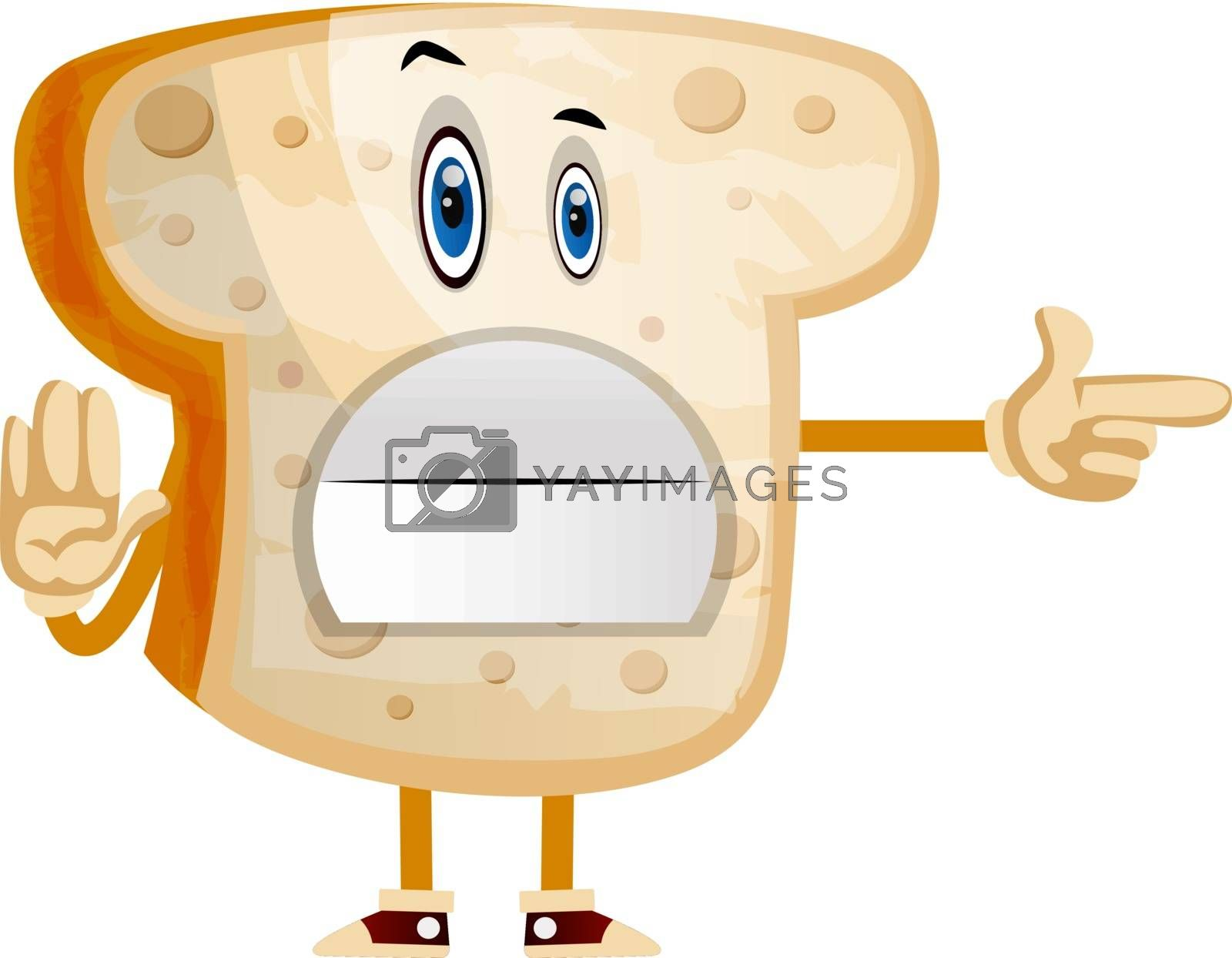 Royalty free image of Stop Bread illustration vector on white background by Morphart