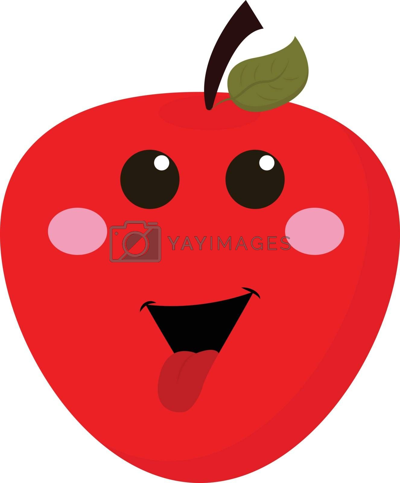 Royalty free image of Happy Apple , vector or color illustration by Morphart