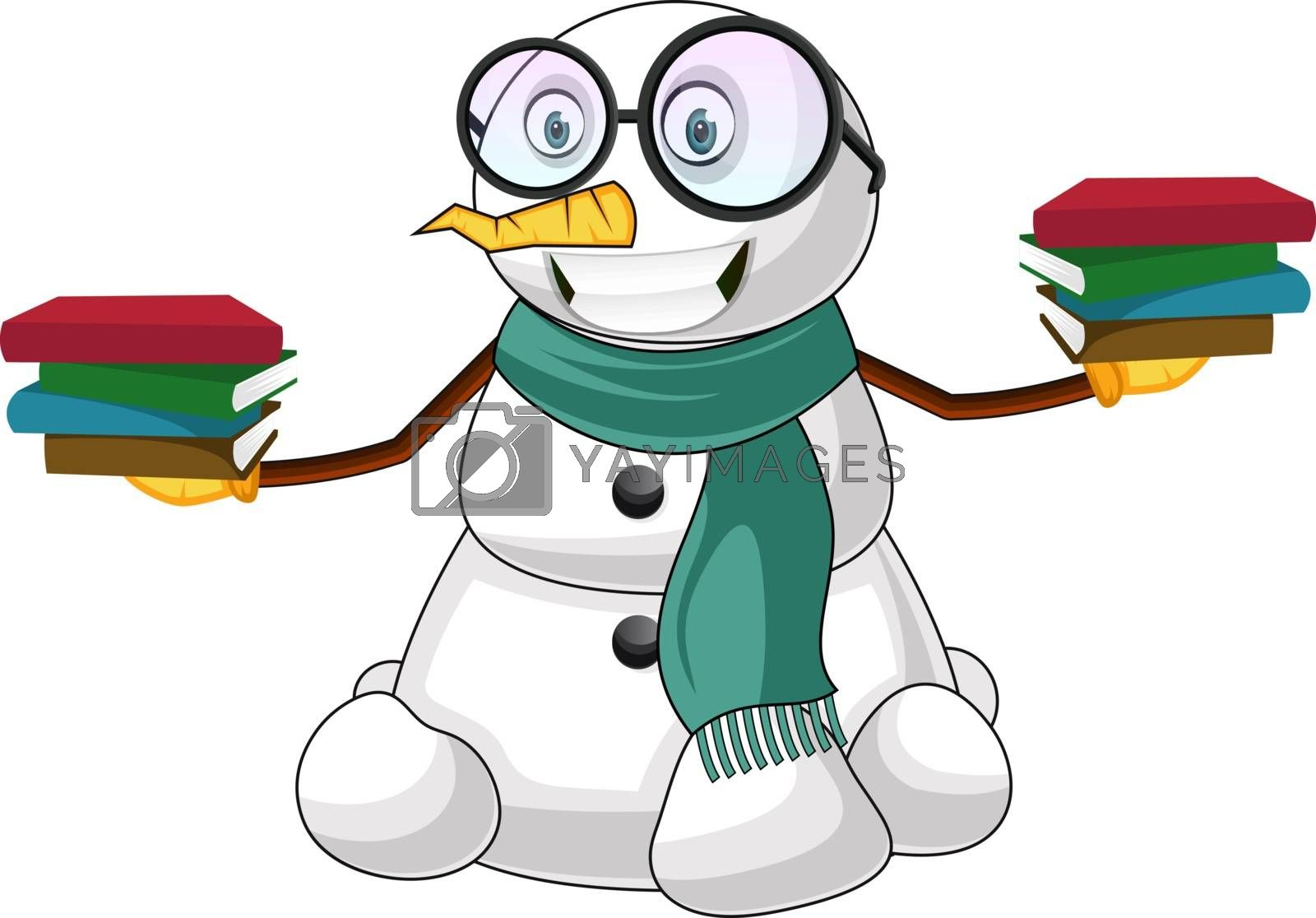 Royalty free image of Smart Snowman illustration vector on white background by Morphart