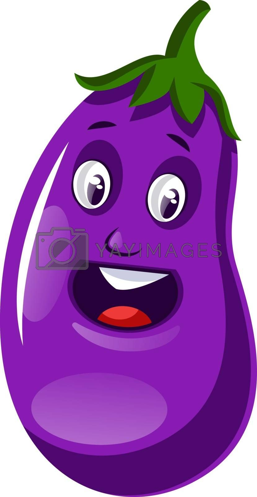 Royalty free image of Surprised brinjal illustration vector on white background by Morphart