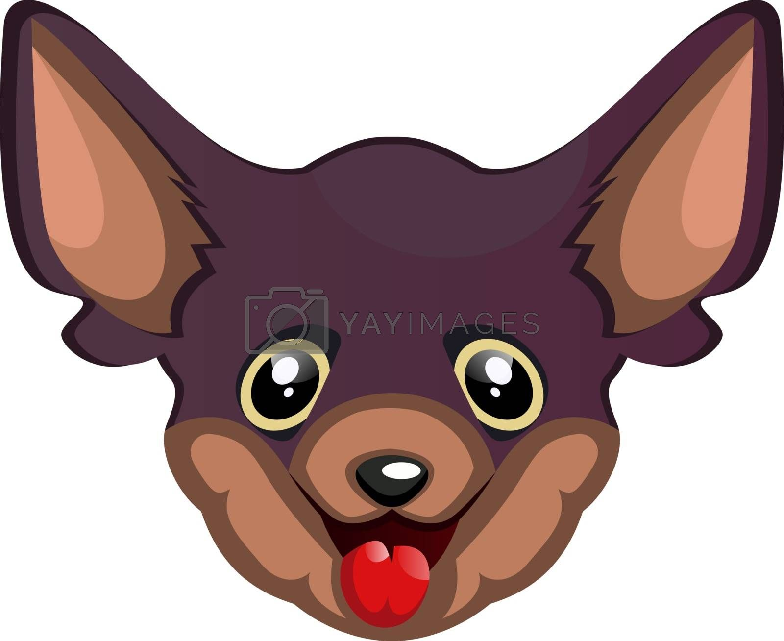 Royalty free image of Silly Chihuahua illustration vector on white background by Morphart