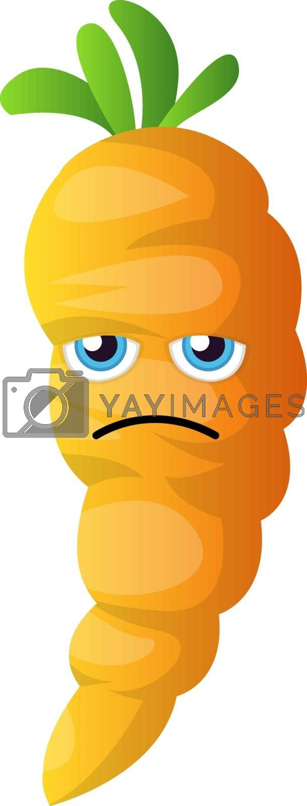 Royalty free image of Sad cartoon carrot illustration vector on white background by Morphart