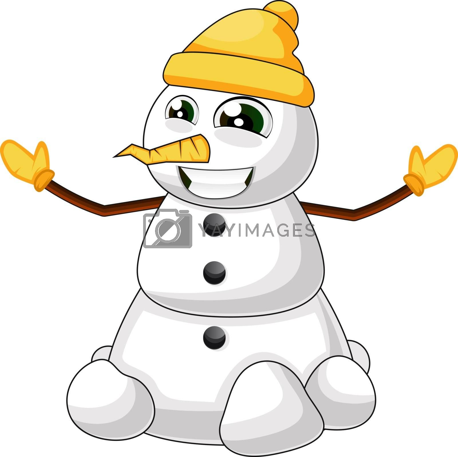 Royalty free image of Cute snowman illustration vector on white background by Morphart