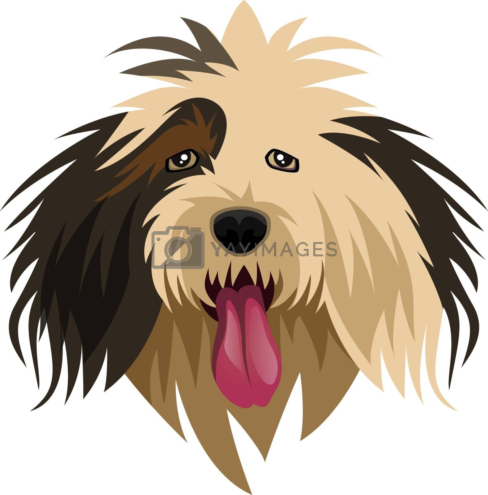 Sheep Dog illustration vector on white background