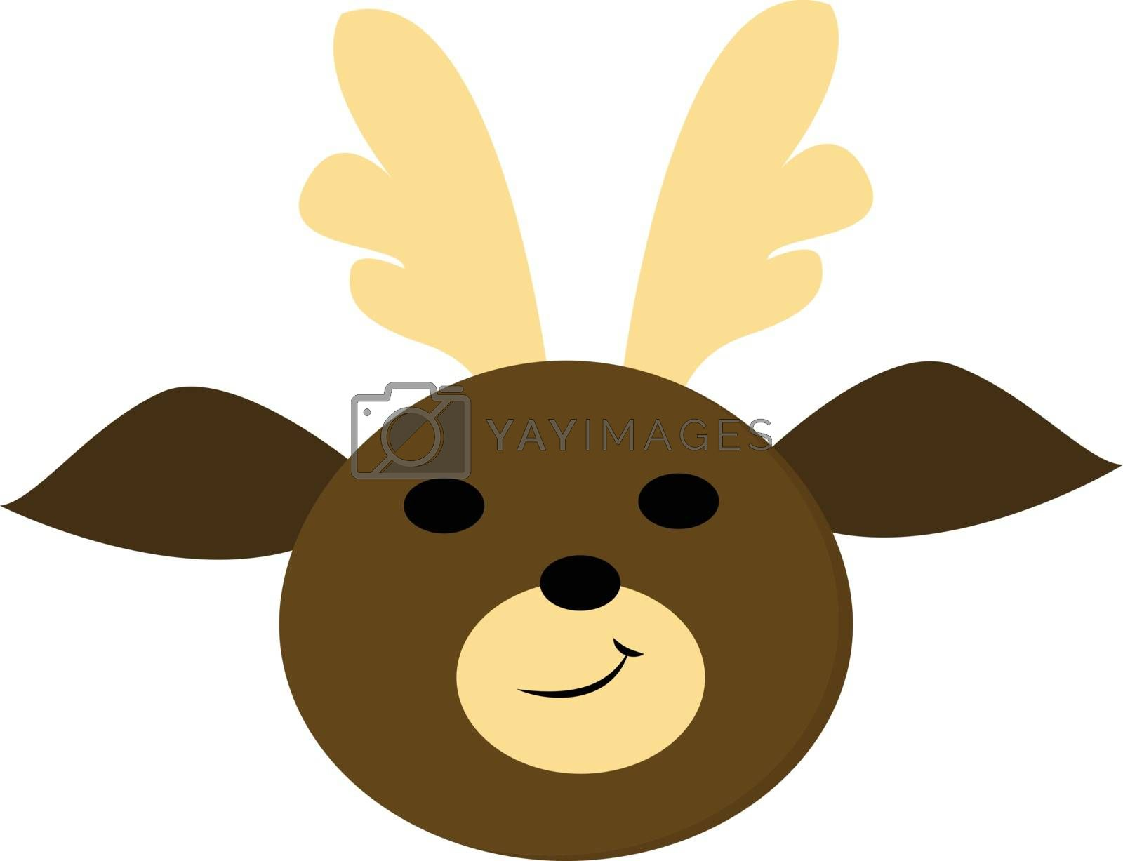 Royalty free image of A cute baby deer , vector or color illustration by Morphart
