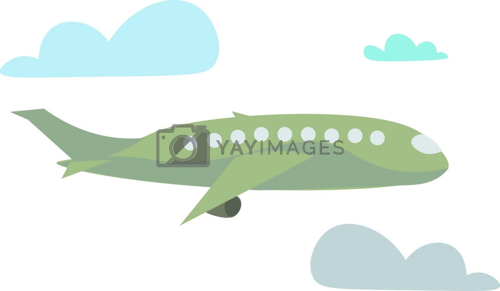 Plane, vector or color illustration.  by Morphart