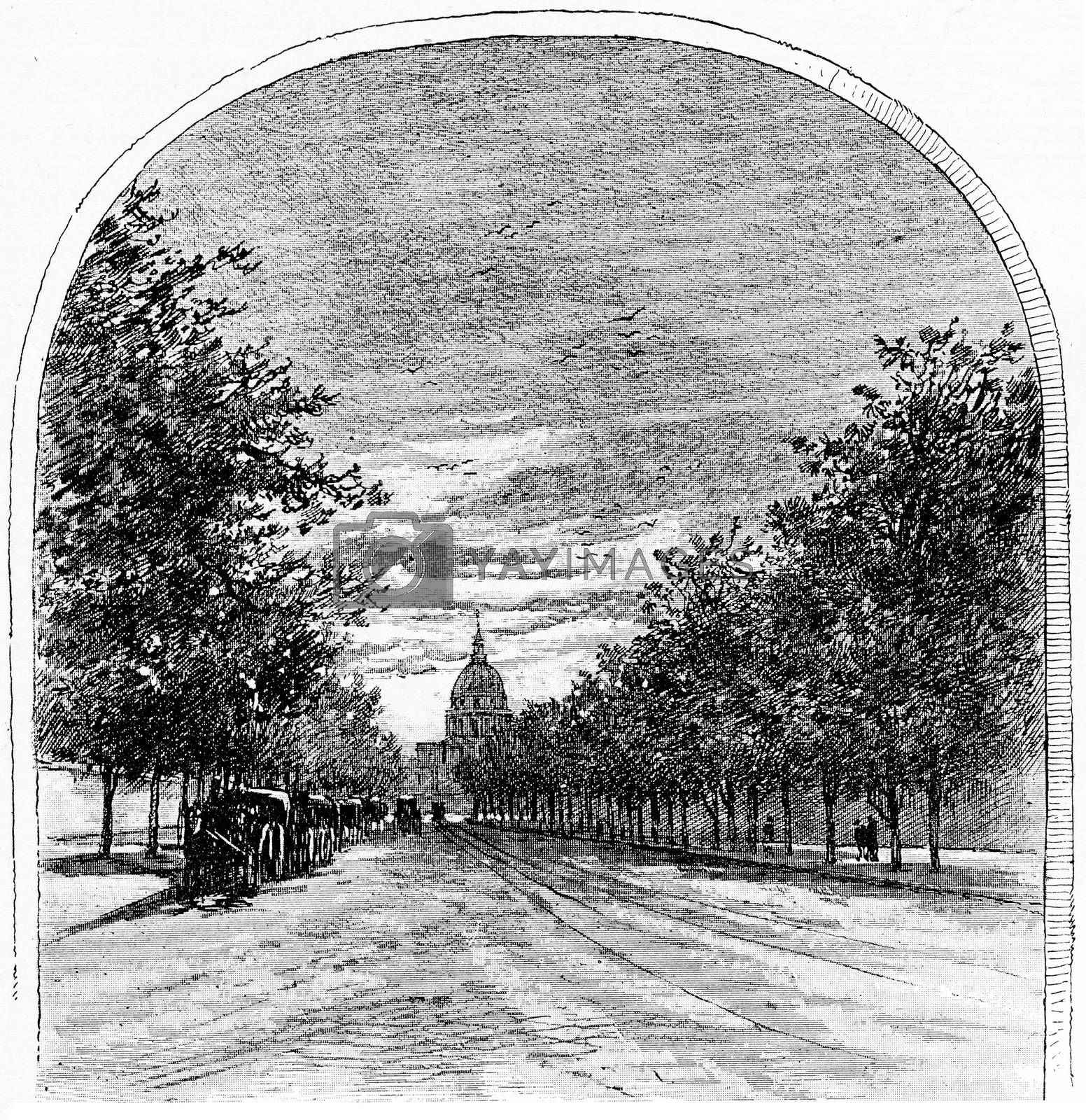 Boulevard of the Invalides seen from the rue de Sèvres, vintage by Morphart