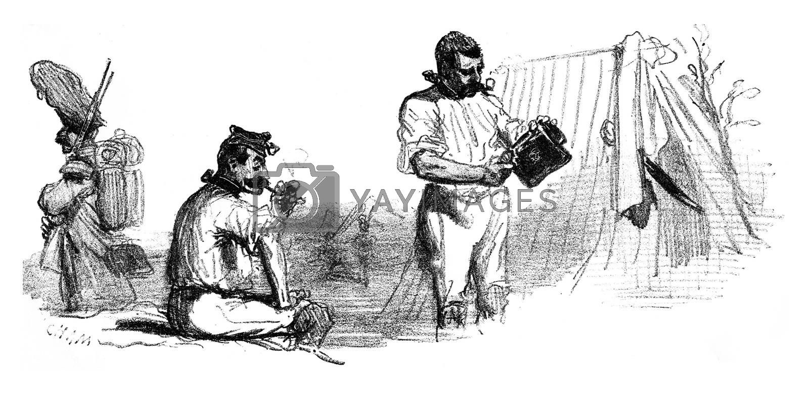 Short hair fashion, vintage engraved illustration. From The Tortures of Fashion.