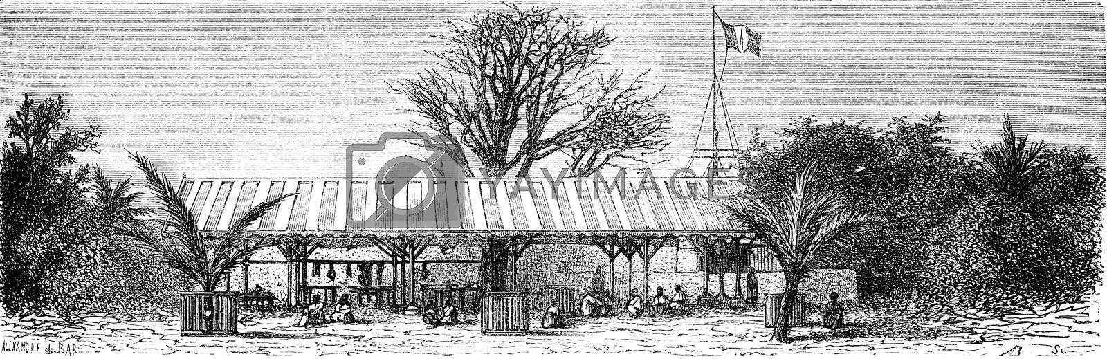March Goree, vintage engraved illustration. Le Tour du Monde, Travel Journal, (1872).