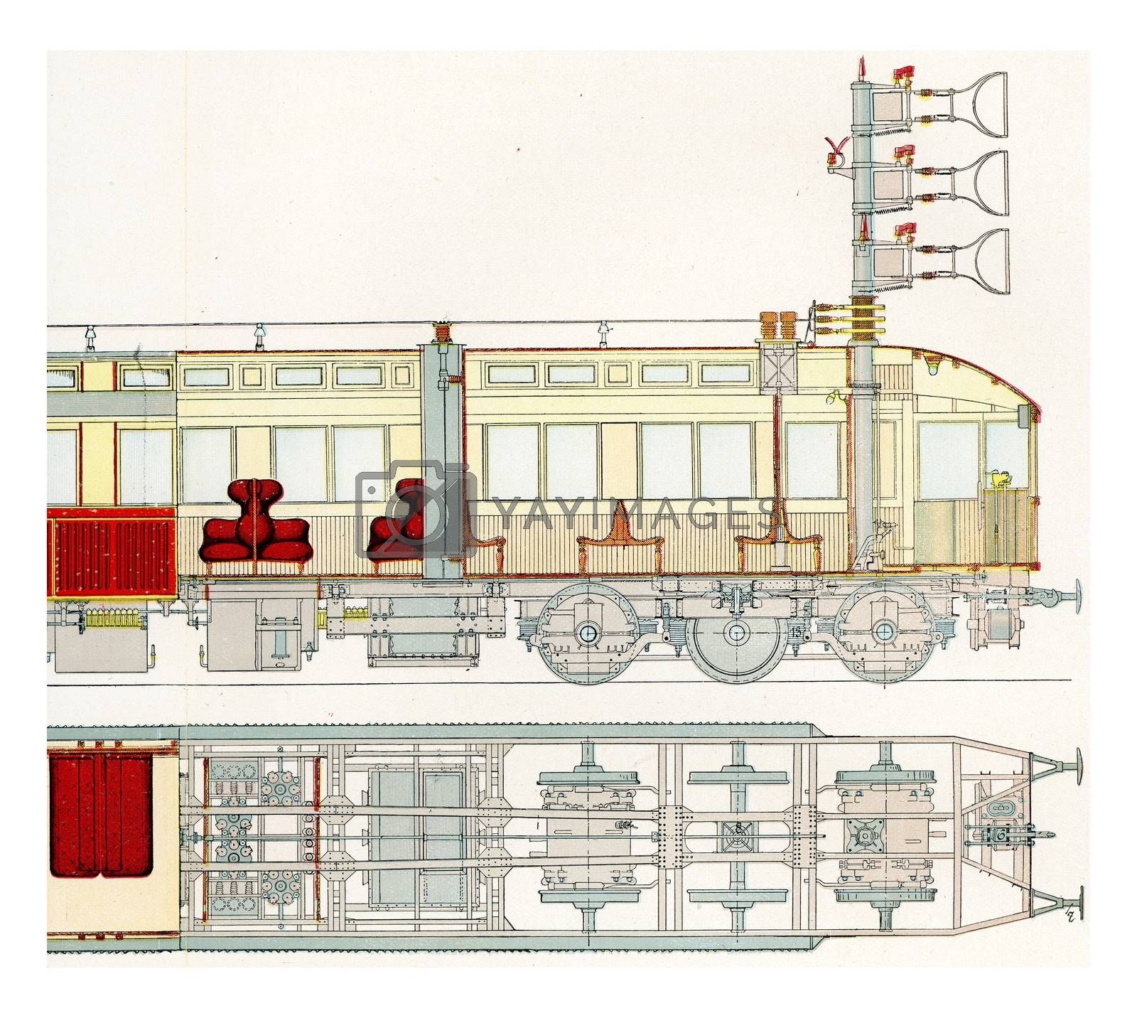 Royalty free image of Section of a motor car fast test railway Marienfelde-Zossen, vin by Morphart