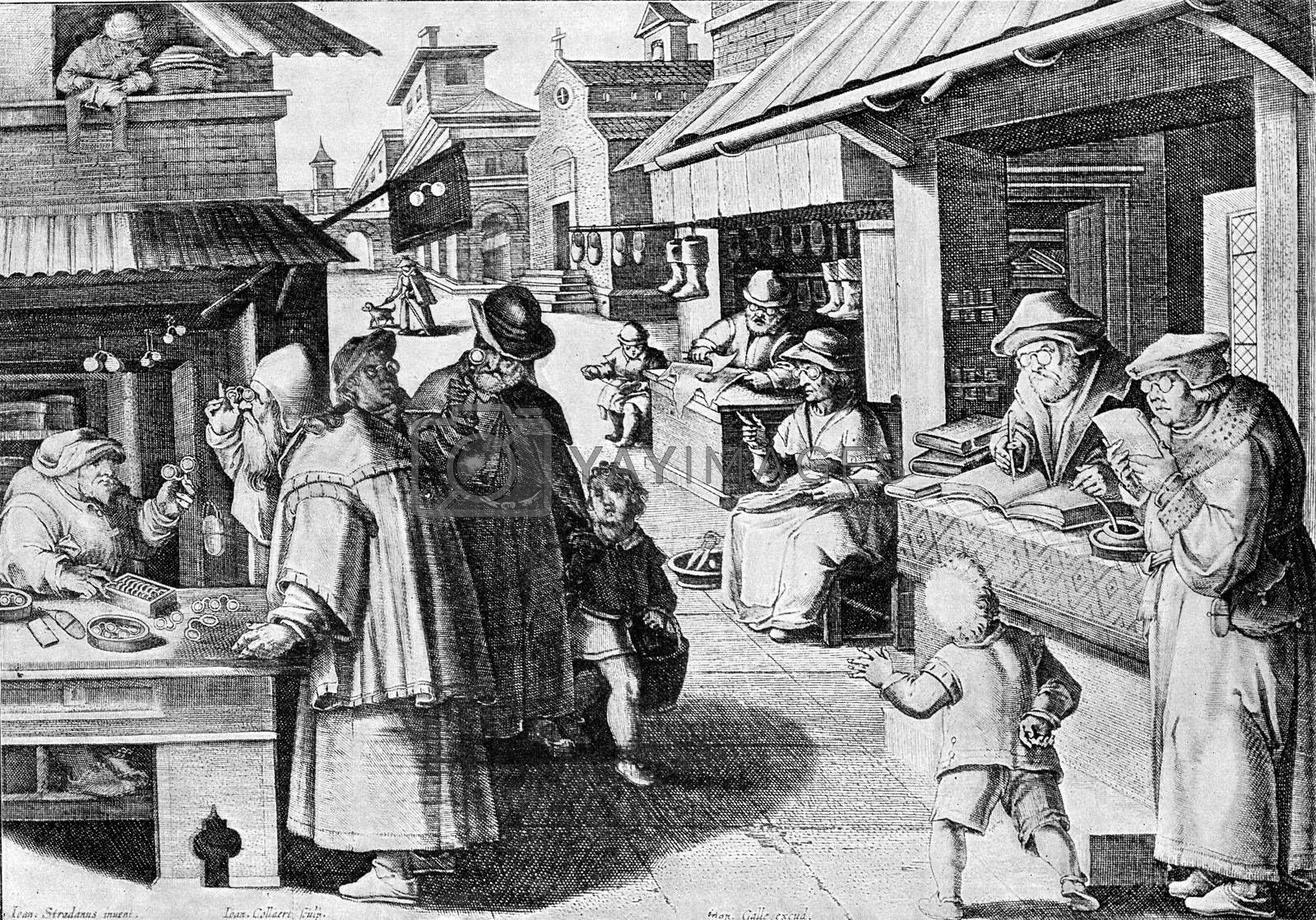 Royalty free image of Manufacturers and spectacle wearers in the sixteenth century, vi by Morphart