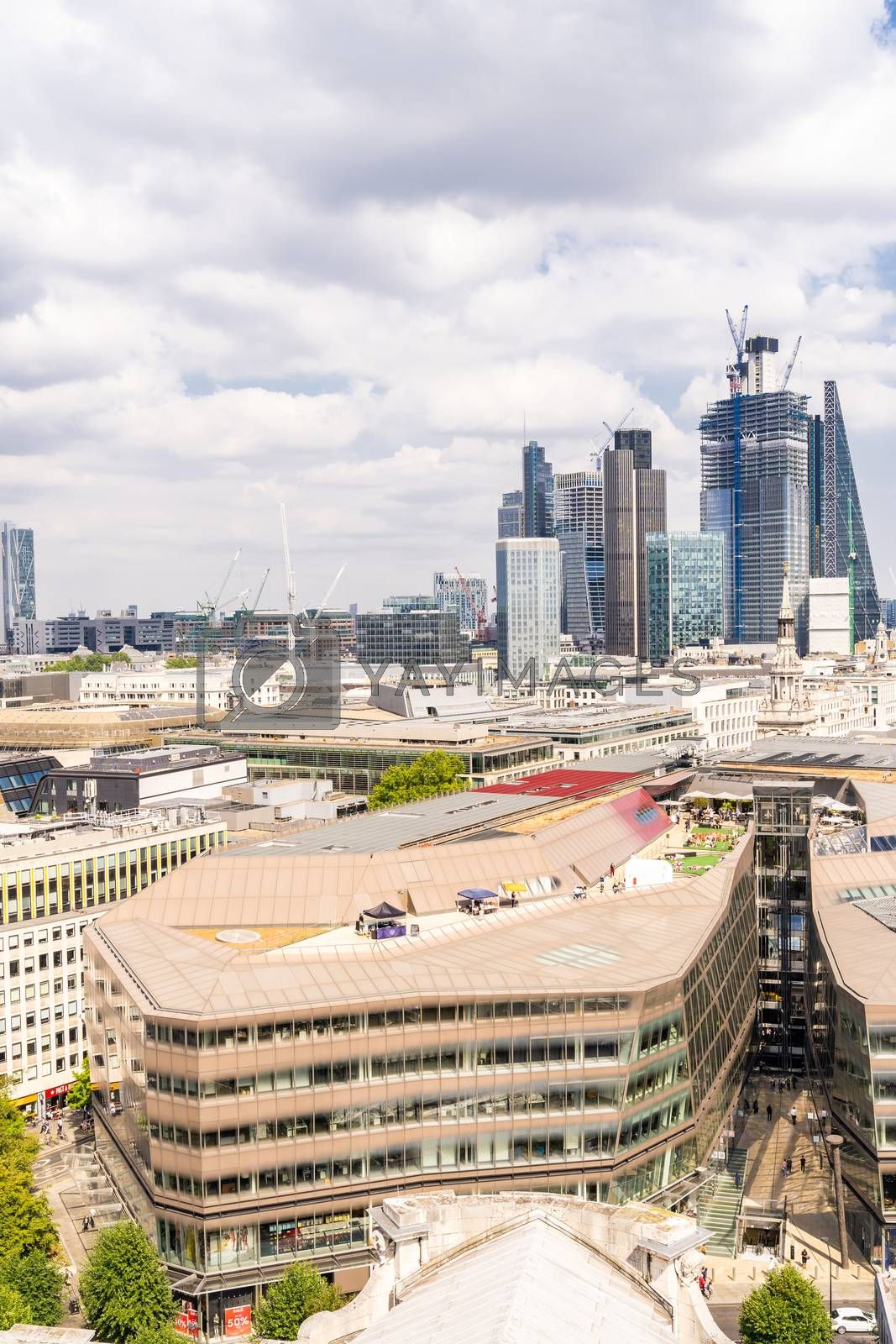 London downtown cityscape skylines building in London England UK