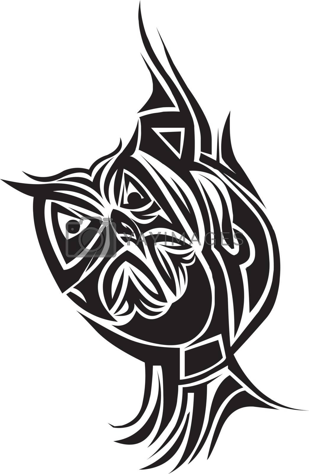 Tattoo design of owl, vintage engraved illustration.
