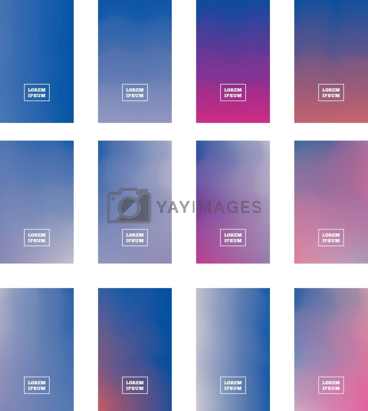 Royalty free image of Gradient Mesh vector can be used as a screen saver on a computer screen, smartphone by sermax55