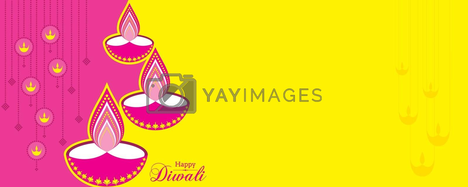 Illustration of Happy Diwali Greeting by graphicsdunia4you