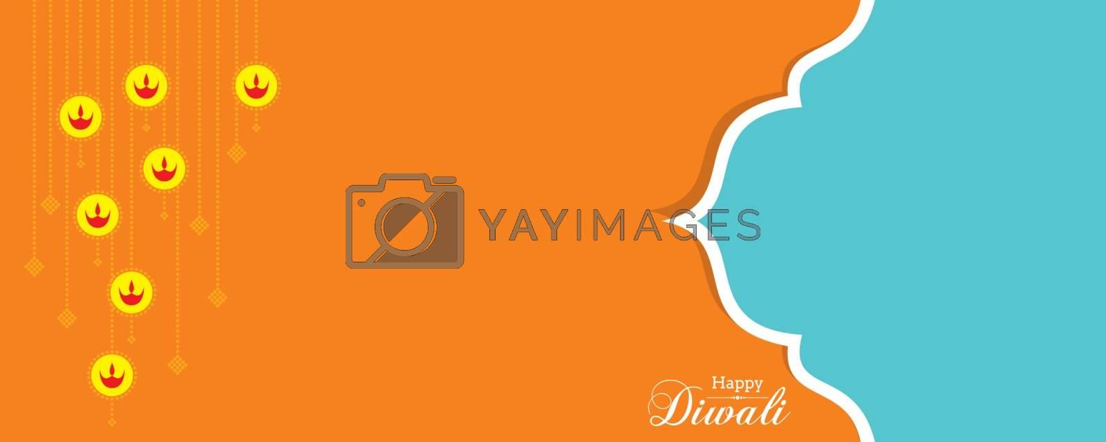 Illustration of Greeting for Diwali Celebration stock vector