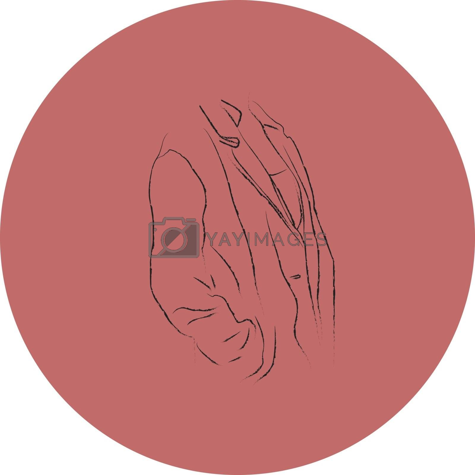 Fashion button, illustration, vector on white background.