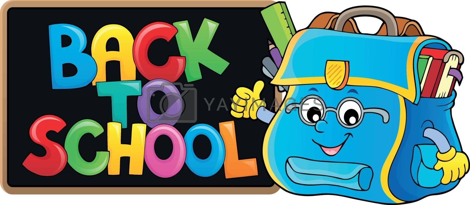 Back to school composition image 1 - eps10 vector illustration.