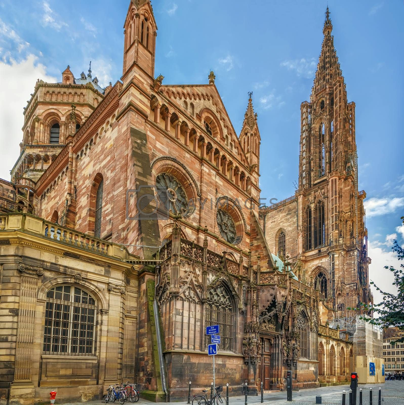 Strasbourg Cathedral also known as Strasbourg Minster, is a Gothic Roman Catholic cathedral in Strasbourg, Alsace, France. North portal