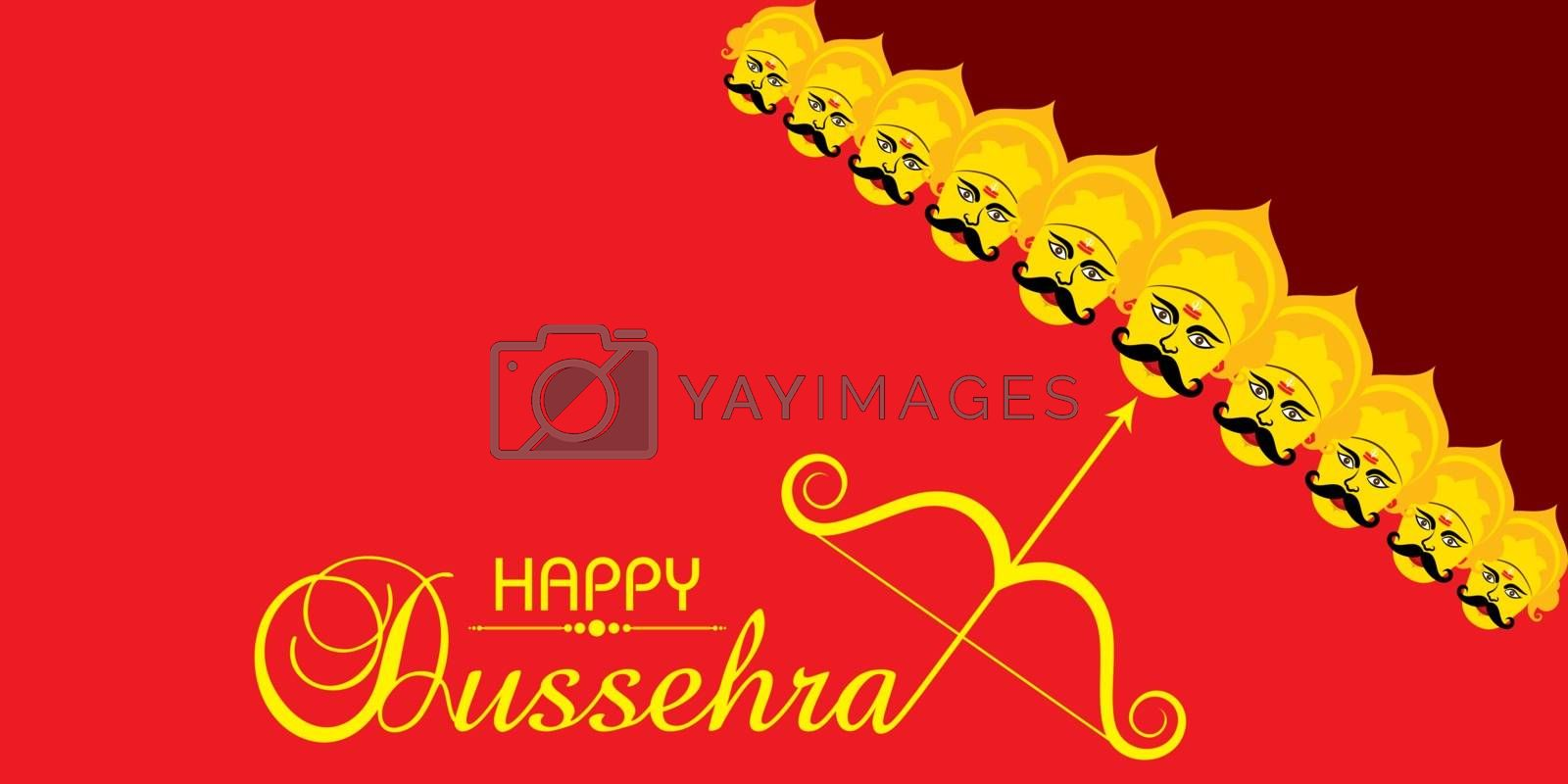 Greeting for Happy or Shubh Dussehra Festival by graphicsdunia4you