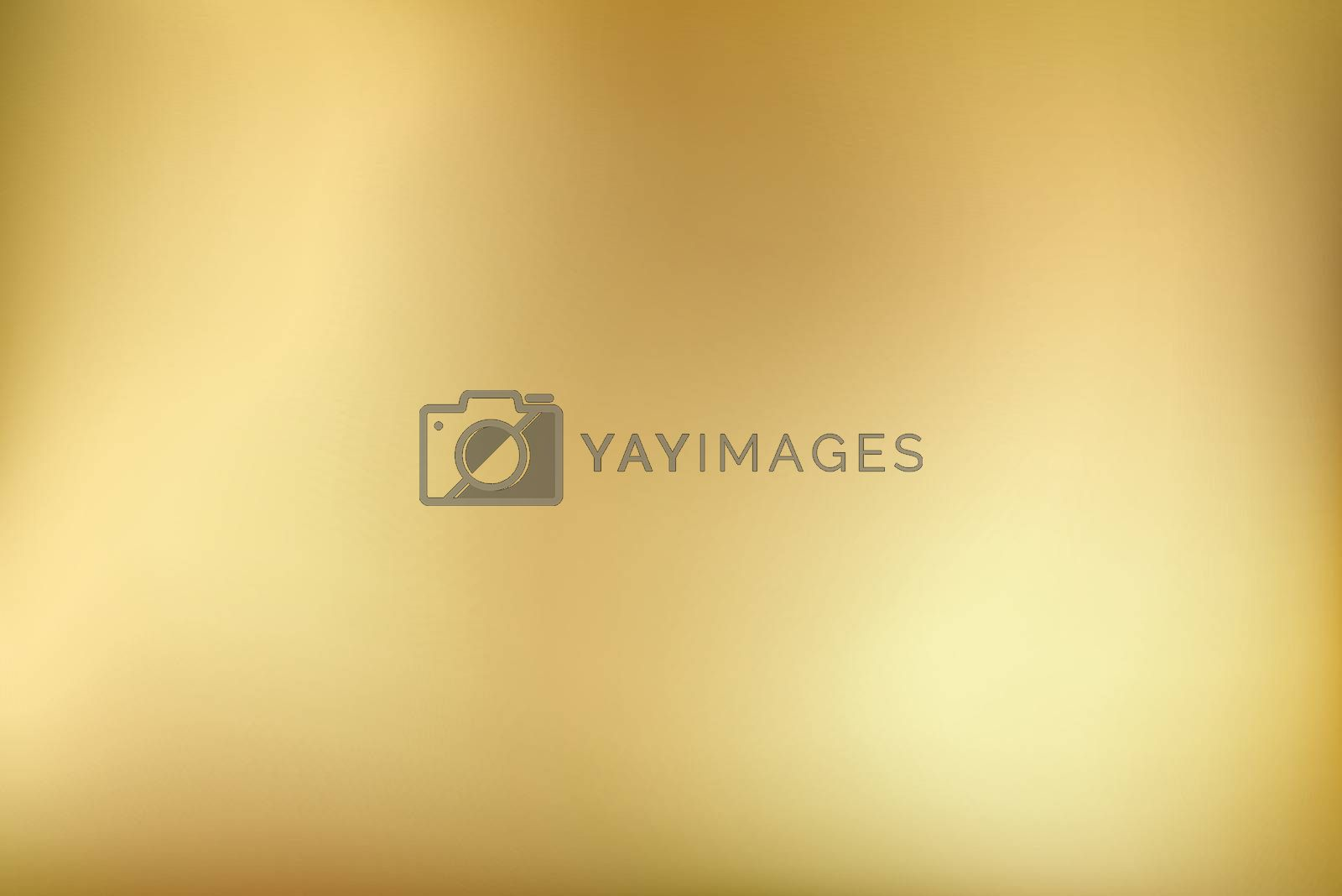Golden background. Abstract light gold metal gradient. Vector blurred illustration.