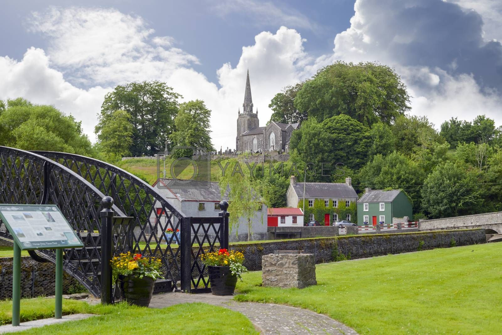 scenic view of castletownroche park and church in county cork ireland