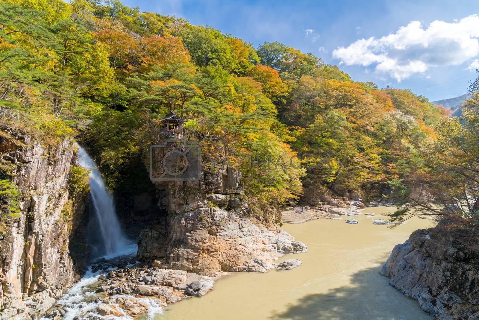 Rainbow waterfall at Ryuyo Gorge Nikko Tochigi Japan