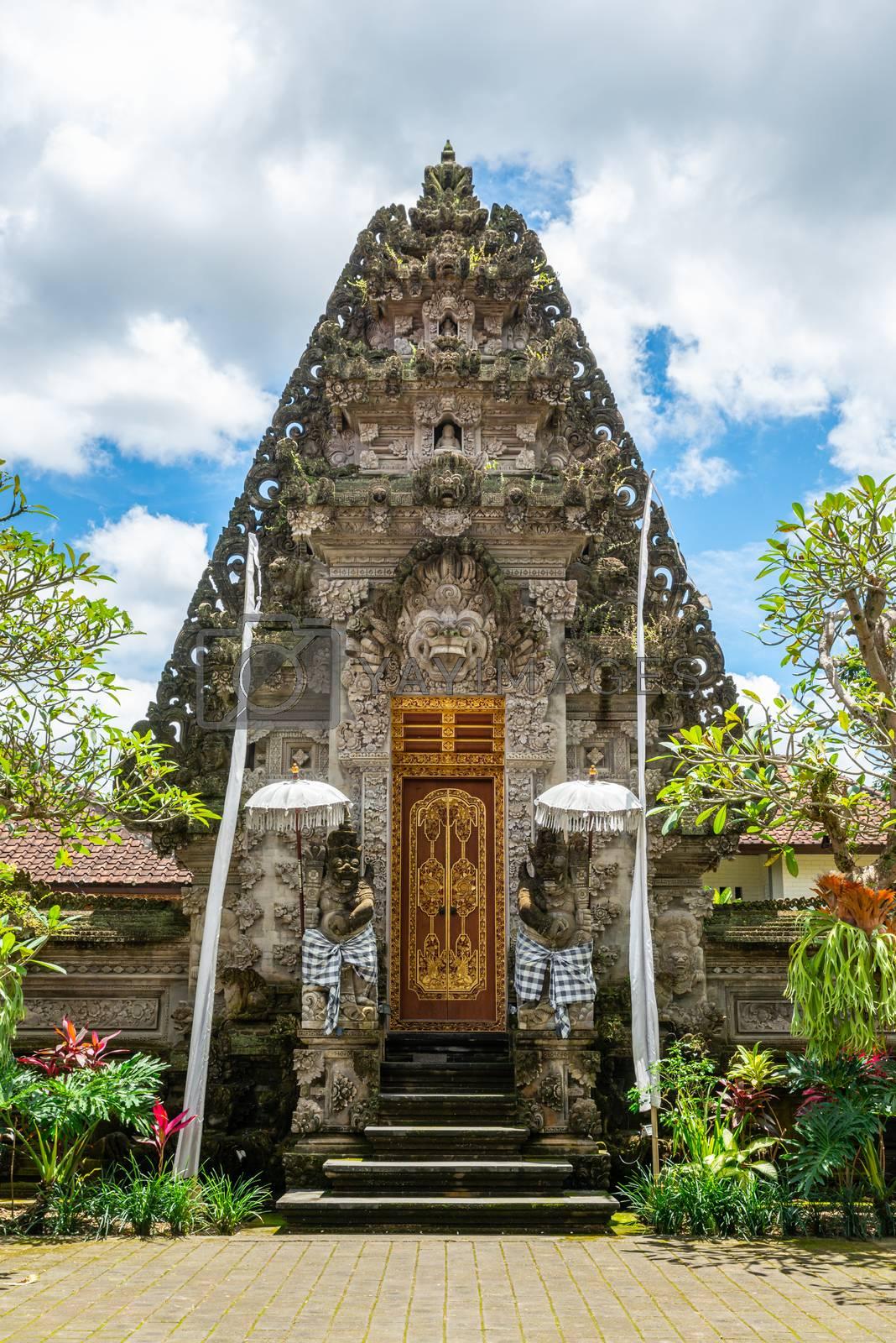 Puri Kantor Hindu temple in Ubud, Bali, Indonesia