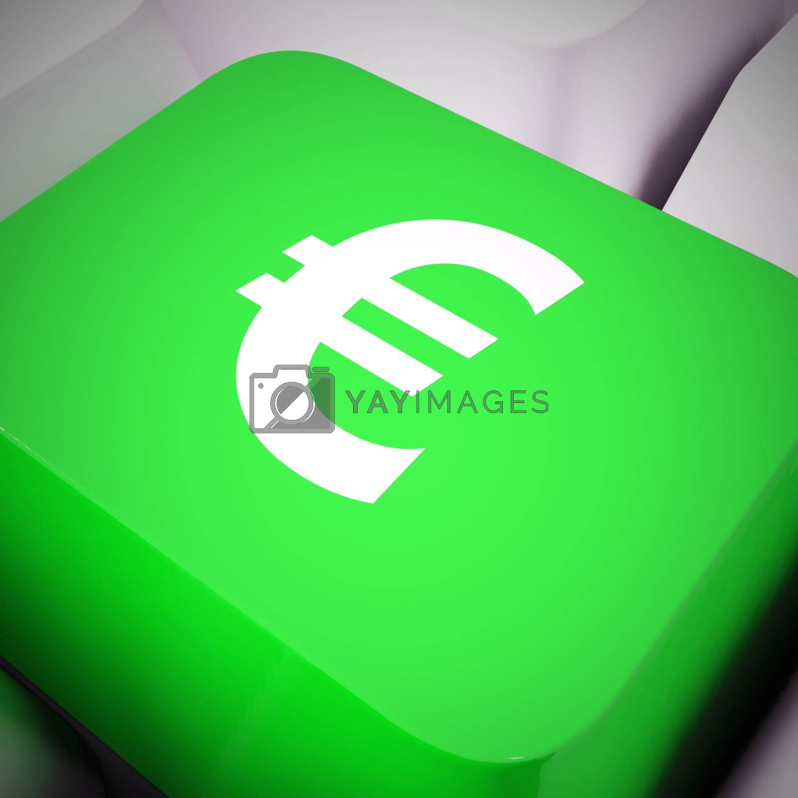 Royalty free image of Euro sign concept icon means lots of funds or savings - 3d illus by stuartmiles