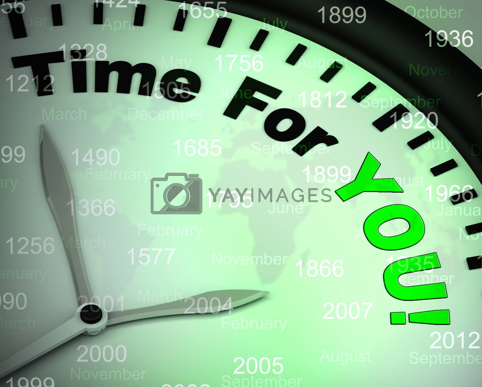 Royalty free image of Time for you means relaxing wellness and joy - 3d illustration by stuartmiles